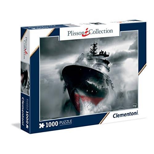 Clementoni - 393510 - Puzzle - Plissons - Sauvetage en mer - 1000 Pièces