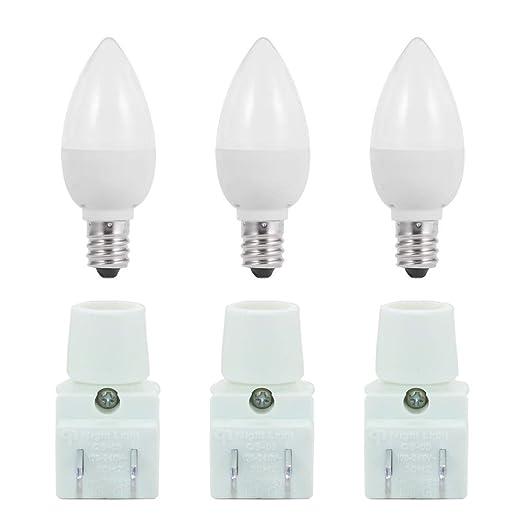 Amazon.com: Kit de luz nocturna, bombilla LED C7 de 1 W de ...