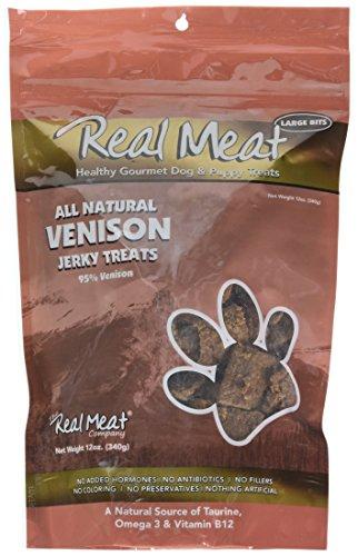(Real Meat Venison Jerky Dog Treats (12 oz))