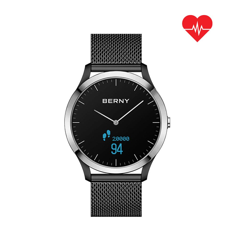 BERNY Hybrid Smart Watch Series for Men and Women, Smartwatch Phone Fitness Tracker with Bluetooth Camera Compatible with iPhone and Android