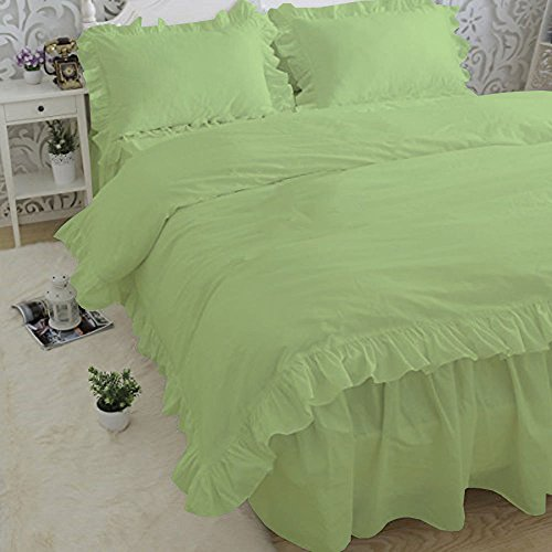 ous 2-Piece Frilled Pillowcases Comes with Beautiful Corner Ruffle Edges 100% Egyptian Cotton 600 TC Pillow Covers Solid (Standard/Queen, Sage) ()