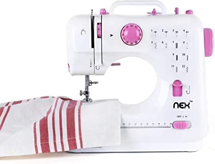Pink Sewing Machine Heavy Duty Metal Frame w// 15-Built-In Stitches Easy-to-Use