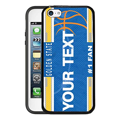 BRGiftShop Personalize Your Own Basketball Team Golden State Rubber Phone Case For Apple iPod Touch 5th & 6th Generation ()