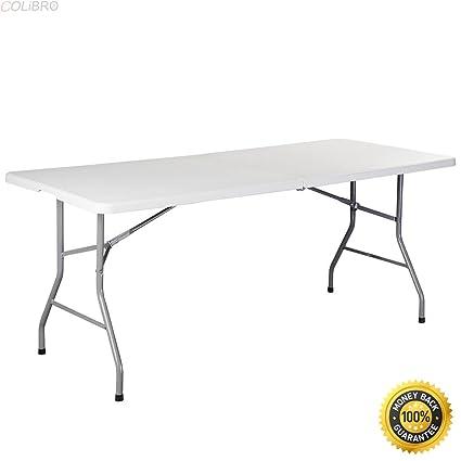 Amazoncom Colibrox 6 Folding Table Portable Plastic Indoor