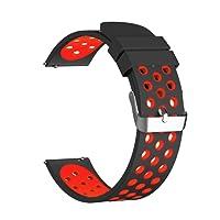 Conquro Correa Banda de Reloj de Silicona Inteligente Ventilación porosa para Xiaomi HuaMi Reloj Elegante Stratos Smart Watch 22mm