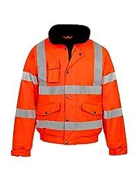 Forever Mens Rainsuit Hi Viz Waterproof Storm Jacket Workwear Security Coat