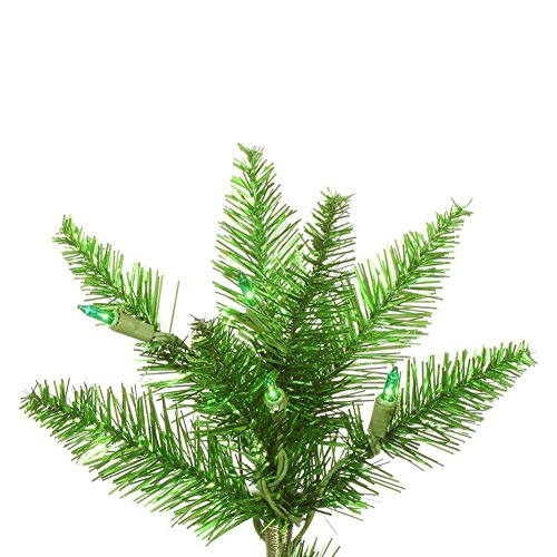 Artificial Christmas Tree. Fake 7.5 Foot Xmas Flocked Natural Tinsel Green Slim Pine. It's Classic Fir Shape Looks Neat & Natural, Snow-flocked Branches. Perfectly-shaped. Holiday Season Party Decor. by Artificial-Christmas-Tree (Image #1)