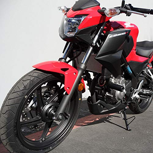 Shogun 2015 2016 2017 2018 2019 Honda CB300F CB 300 Black No Cut Frame Sliders - 750-3129 - MADE IN THE USA