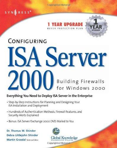 Download Configuring ISA Server 2000: Building Firewalls for Windows 2000 Pdf