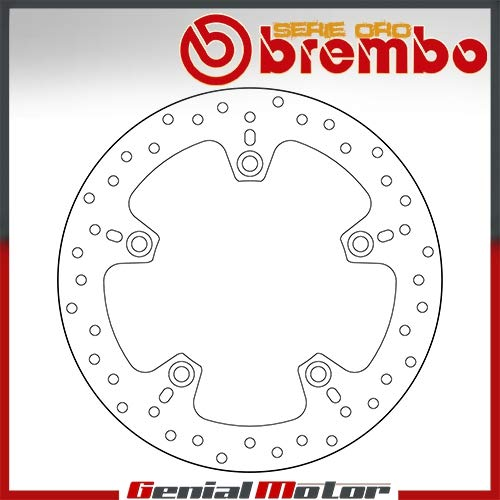 68B407C0 Disque Frein Fixer Brembo Serie Oro Arriere Hp2 Enduro 1200 2006  2009