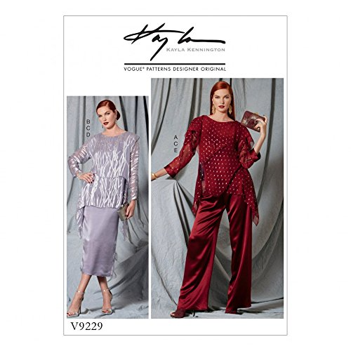(Vogue Ladies Sewing Pattern 9229 Handkerchief Hem Tunics, Top, Skirt & Pants)