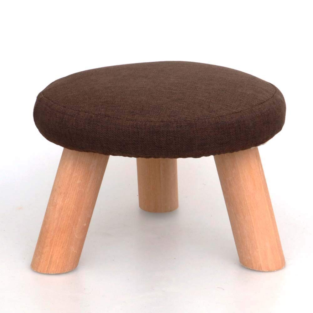 QTQZ Brisk- Stool Round Stool Solid Wood Fashion Square Stool Home Coffee Table Stool Fabric Sofa Stool (A Variety of Styles Optional) (Color: D)