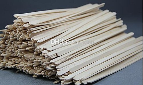 1000 pcs/lot 14cm Disposable Natural Wood Coffee Stirrers THICK Wooden Stir Sticks Coffee Shop Cafe Supplies
