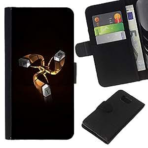 EJOY---La carpeta del tirón la caja de cuero de alta calidad de la PU Caso protector / Samsung ALPHA G850 / --Te Amo Corazón I T