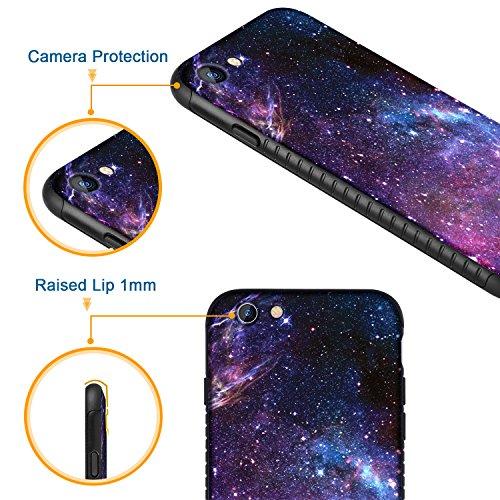 iPhone 8 Case, iPhone 7 Case, BENTOBEN Nebula Galaxy Ultra Slim Lightweight Hard Plastic Shell Soft TPU Hybrid Dual Layer Anti-Scratch Protective Cover Case for iPhone 8/ iPhone 7, Purple Nebula Photo #5