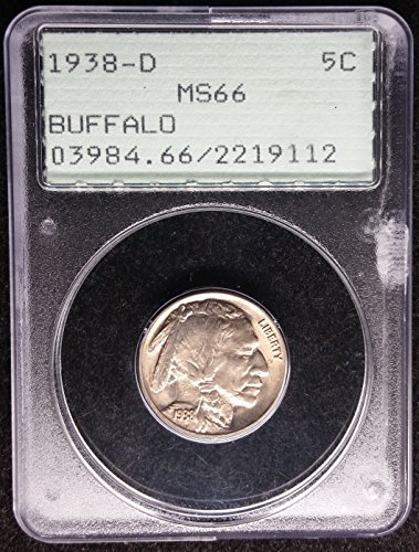 1938 D Buffalo Nickel Nickel MS-66 PCGS