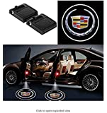 for cadillac Ephvan 2 Pcs Wireless Car Door Led Welcome Laser Projector Logo Light Ghost Shadow Light Lamp Logos