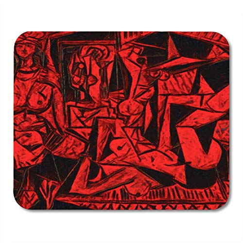 Gaming Mouse Pad The Story of Picasso Improvisation Artist Alternative Reproduction World 7.18.7 Inches Decor Office Nonslip Rubber Backing Mousepad Mouse Mat ()