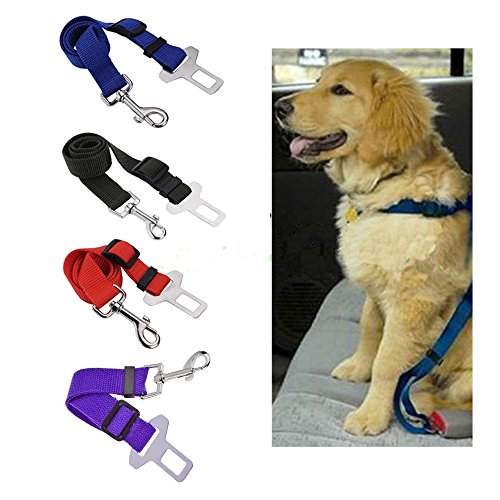 Adjustable Dog Cat Auto Safety Seat Belt Car Vehicle Seat Belt Lead Quality Comfortable Nylon Safetybelt Harness for Pets