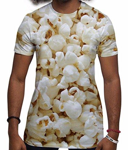All Over Print T Shirt Sublimation Druck T-Shirt Popcorn Herren Urlaub T-Shirts Festival Kleidung Männer