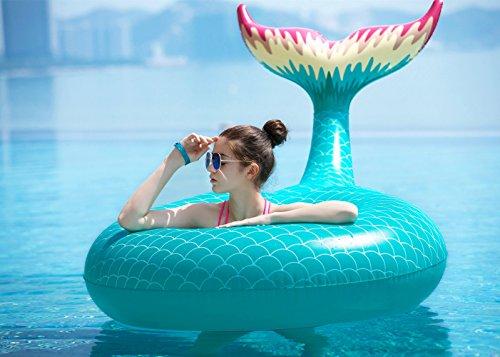 jasonwell giant inflatable mermaid tail pool float with. Black Bedroom Furniture Sets. Home Design Ideas