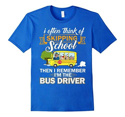 Mens Skipping School Shirts, I'm The Bus Driver T Shirt 2XL Royal Blue