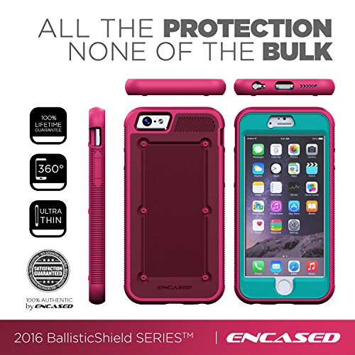 "Original BallisticSHIELD Case for Apple iPhone 6 Plus (5.5"") By Encased® (Plum/Teal)"