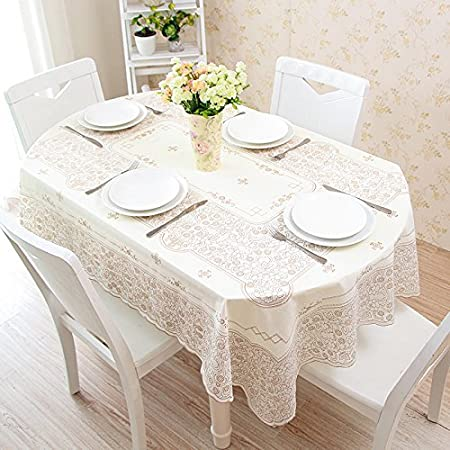 MOMO Mesa Plegable retráctil Mesa de PVC Ovalada Mantel de ...