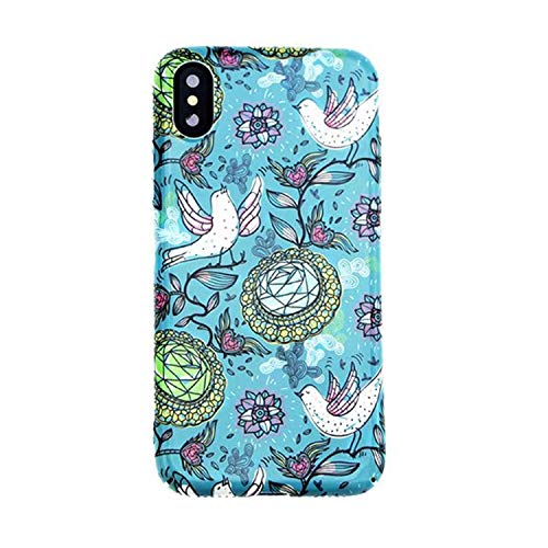 Peace Dove Cases for iPhone 6 6s 7 8 Plus Thrush Lily Flower Painting Bird for iPhone X Honeysuckle Cases Cover,G1,for iPhone 7