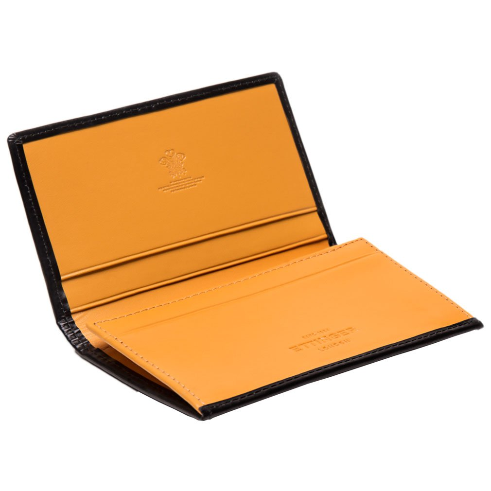 Ettinger Men's Black and London Tan Bridle Hide Wallet