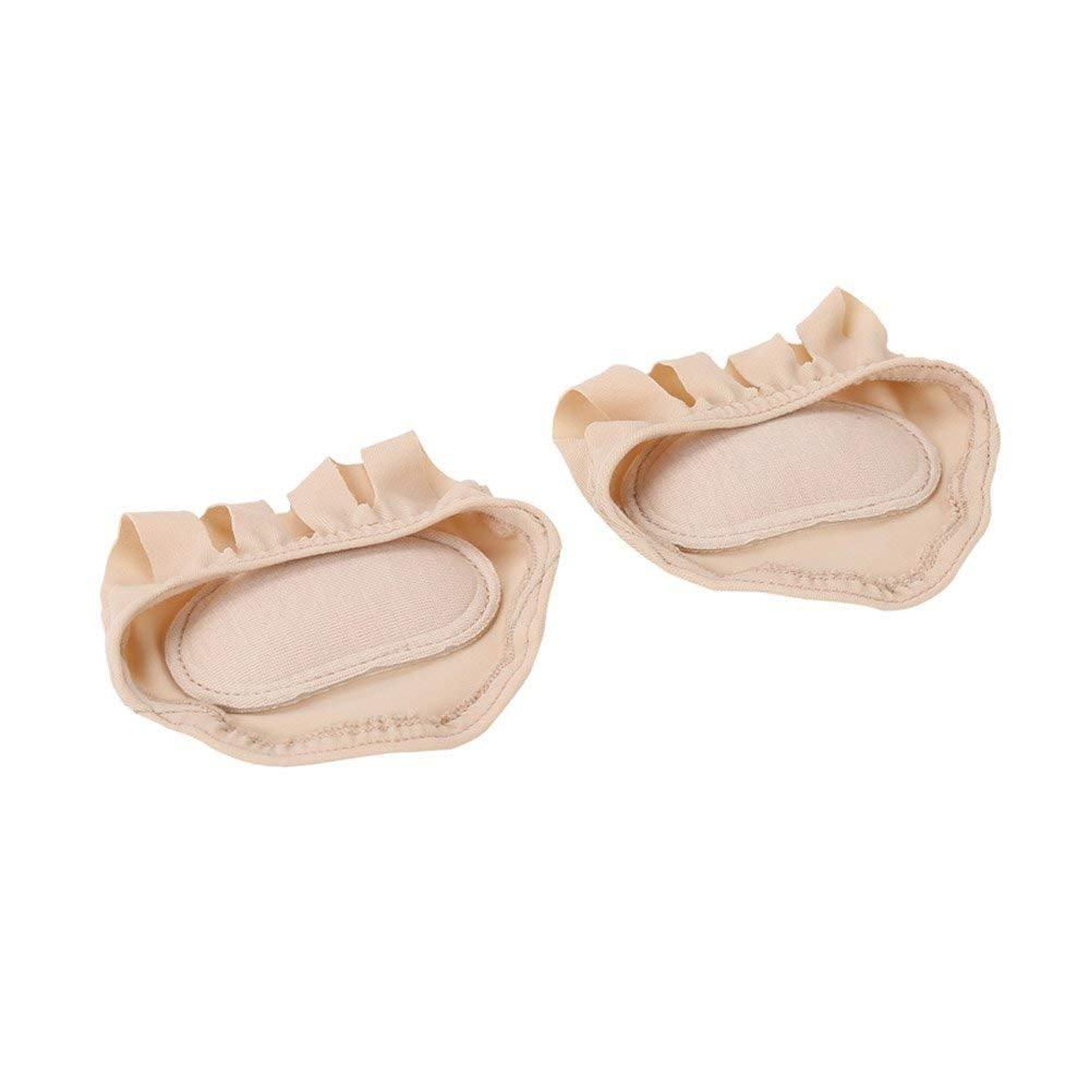 JAlivio del cojín del cojín y del juanete Almohadillas del pie de la media punta del pie Almohadillas del metatarso y del antepié Separadores del protector del juanete de 1 par para hombres y mujeres Zapatos de ballet usables KANKOO