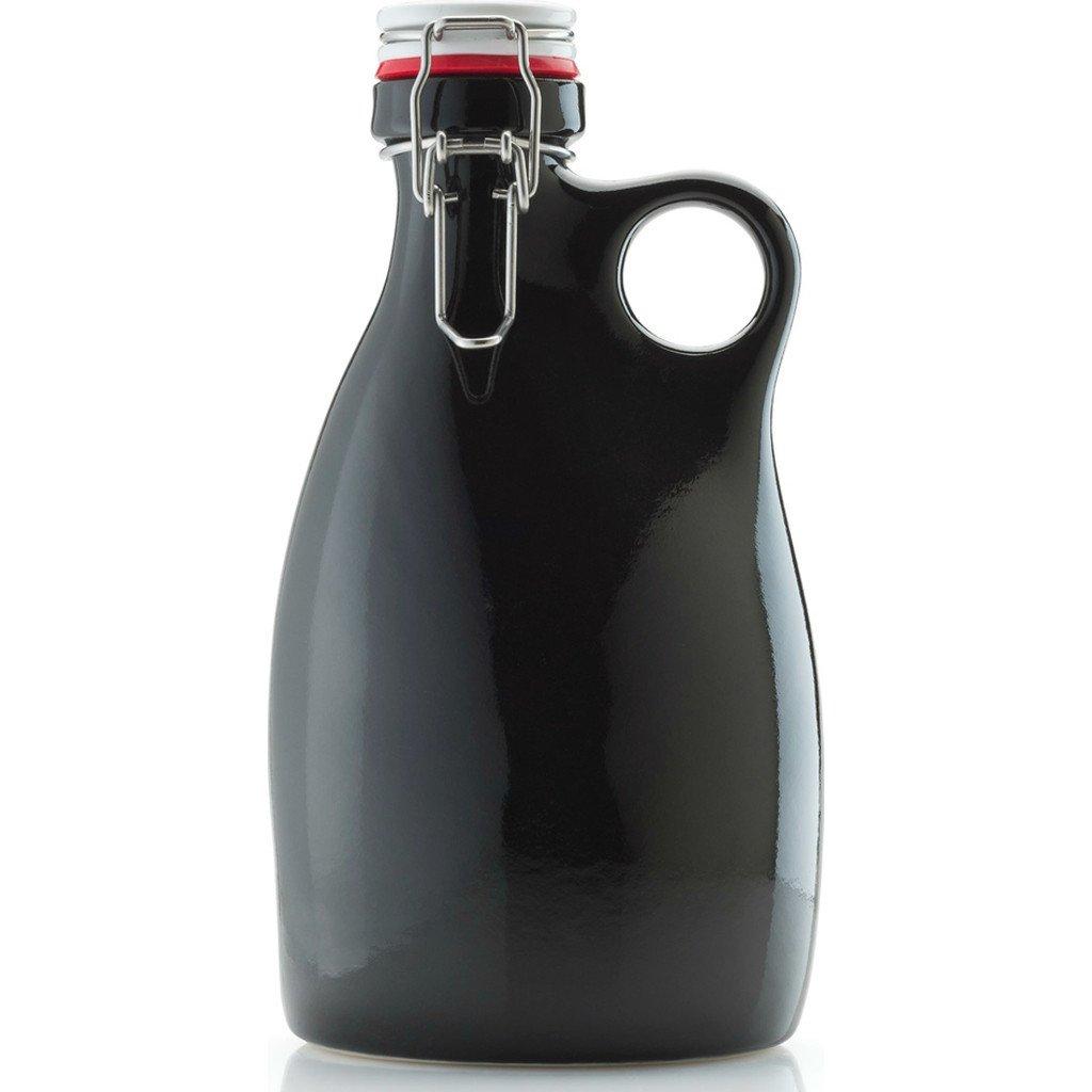 Orange Vessel Co. Stoneware Growler 64 oz. | Gloss Black