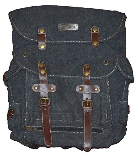 Wwii Backpack World War 2 Vintage Style Heavy Duty Canvas-black (World War 2 Backpack)