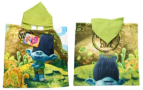 Trolls|Branch Hooded Bath Towel,Beach, Pool,Poncho Towel, Officially - By Special 1pm Delivery
