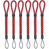 Adjustable Wrist Strap Hand Lanyard, 6 Piece for iPhone Samsung Camera GoPro USB Flash Drives Keys PSP and Other Portable Items Red