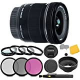 Canon EF-S 10-18mm f/4.5-5.6 IS STM Lens + 3 Piece Filter Set + 4 Piece Close Up Macro Filters + Lens Cleaning Pen + Pro Accessory Bundle - 10-18mm STM: Stepper International Version (No Warranty)