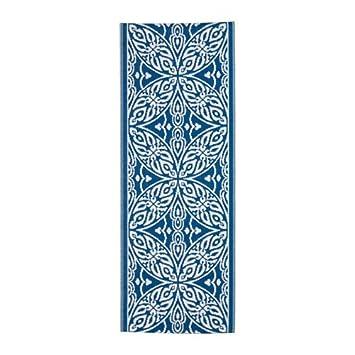 Teppich ikea blau  IKEA SOMMAR 2016 Teppich in blau/weiß; flach gewebt; für drinnen ...