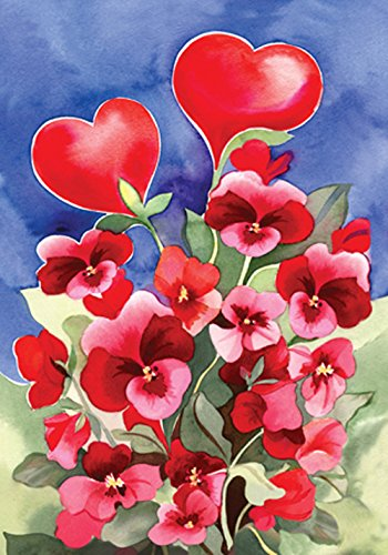Pansy Garden - Toland Home Garden Red Pansies 12.5 x 18-Inch Decorative USA-Produced Garden Flag