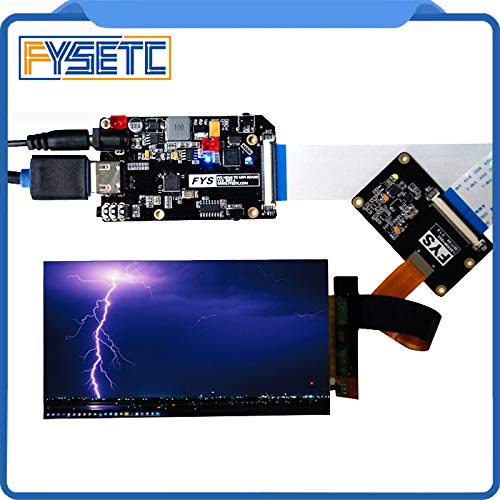 Zamtac 5.5 inch 2k LCD Module LCD Screen Display and HDMI-MIPI Driver Board Replacement for Wanhao Duplicator 7 3D Printer VR Glass - (Size: only LCD Screen)
