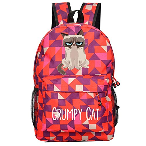 YOYOSHome Anime Grumpy Cat Cosplay Bookbag College Bag Daypack Backpack School Bag (9)