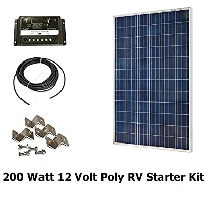 Best Cheap Deal for Infinium 200 Watt Solar Panel Complete Off-Grid RV Boat Kit 2 x 100 Watt + 30 AMP USB PWM Charge Controller + 30' Solar Cable + Z Mounting Brackets from Infinium - Free 2 Day Shipping Available