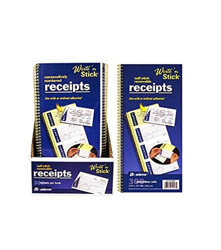 e n Stick Removable Carbonless Receipt Books - 200 Count ()