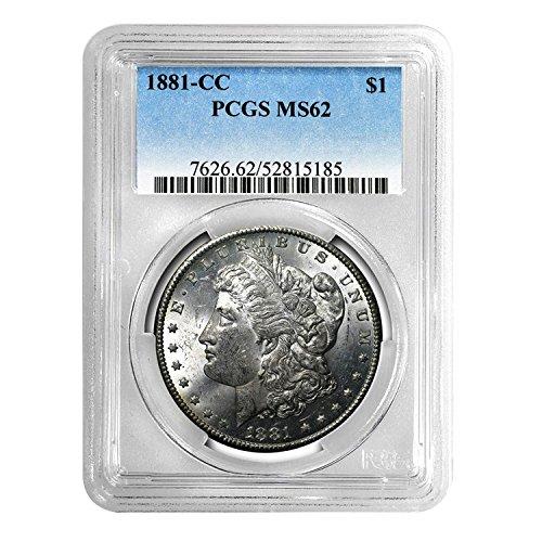 1881 CC Morgan Dollar $1 MS-62 PCGS