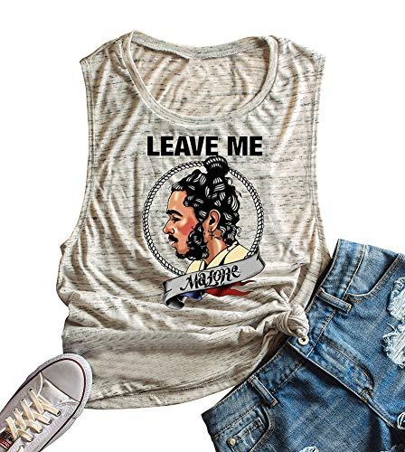 Anbech Womens Leave Me Mlone Racerback Tank Gym Tank Music Summer Sleeveless Shirts
