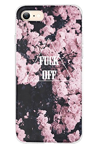 iPhone 8 Case, SPRAWL iPhone 8 (4.7) Case Non Slip Surface with Excellent Grip Hard Case - Slim Case for iPhone 8 (4.7) (2017) -- Pink Floral Pattern Fuck - Br Tory
