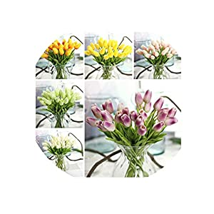 Fake Flowers Home Centerpiece Party Wedding Decorations Simulation Flower PU Tulips Single Stem Bouquet Pretty Artifical 109