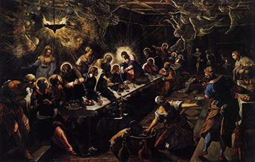 Last Supper Tintoretto Premium Canvas