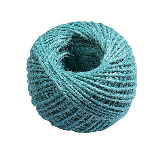 Colored Hemp Twine (11 Assorted Colors Hemp Jute Hessian Twine String Cord Woolen Gift Wrap Craft 50M (Blue))