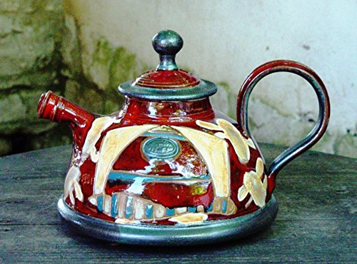 Wheel Thrown Ceramic Teapot with Hand Pa - Hall Kitchenware Shopping Results