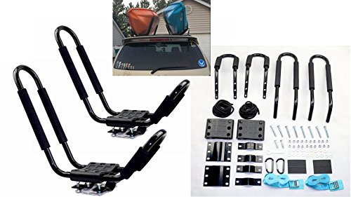 Mrhardware A01 Kayak Roof Rack for SUV Car Top Roof Mount Carrier J Cross Bar Canoe Boat (1 Pairs) by Mrhardware